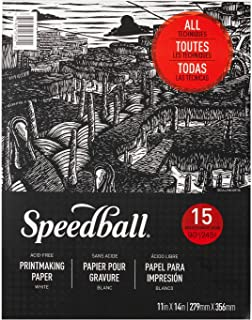 "Speedball Printmaking Paper Pad, 11"" x 14"", White"