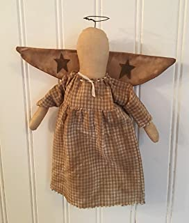 Christmas Tree Topper Angel Ornament Rusty Wire Halo