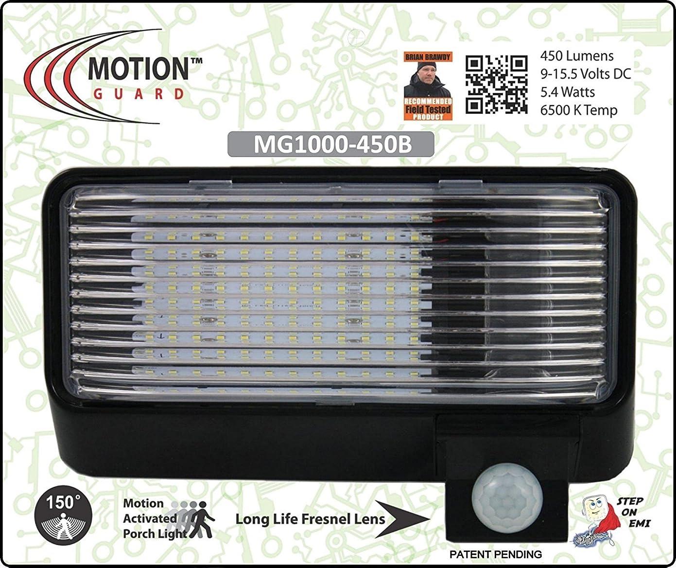 MG1000-450B, 12 Volt Exterior Motion RV LED Porch Light, RV Security Motion Porch Light, Black ly89223709