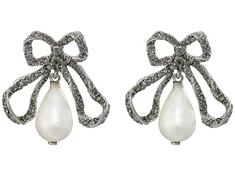 Oscar de la Renta Pearl Drop P Earrings
