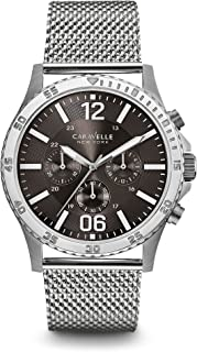 Caravelle New York Men's 43A129 Analog Display Analog Quartz White Watch