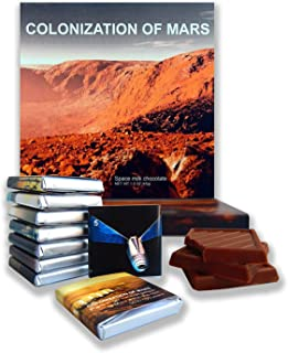DA CHOCOLATE Gift box COLONIZATION OF MARS a nice space themed chocolate set 5x5 In 2.82 Oz (0312)(Landscape Prime 2)