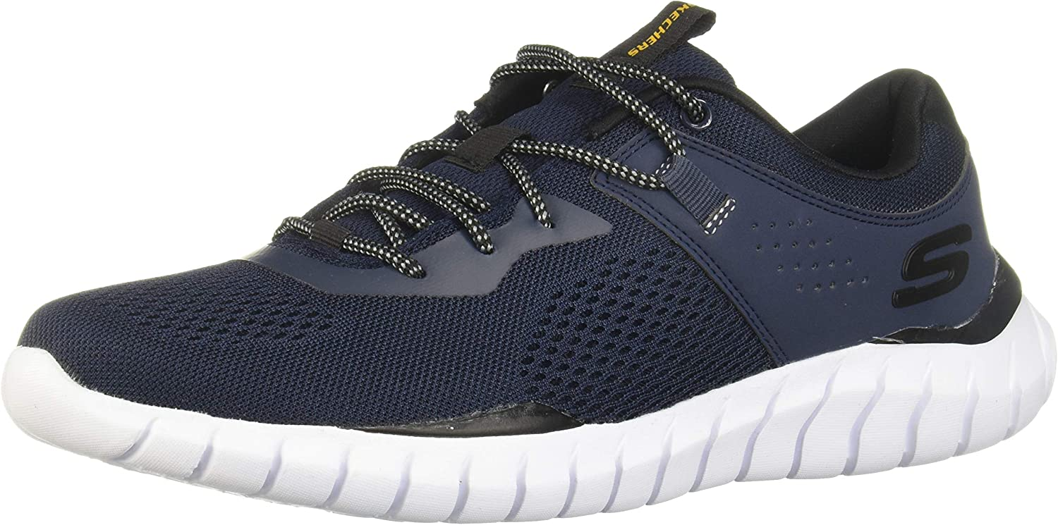 Skechers Men's Overhaul Ryniss Low Sneaker Don't miss the campaign 35% OFF Navy Black Top Shoes