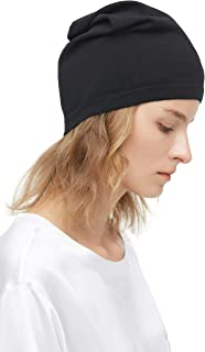 100% Silk Knitted Slouchy Beanie Breathable Thin Women Men Stretch Skull Cap Soft Comfortable