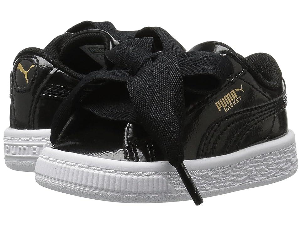 Puma Kids Basket Heart Glam (Toddler) (Puma Black/Puma Black) Girls Shoes