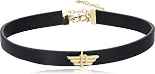 Police Twix Black And Gold Plated Stainless Steel Necklace For Women - PJ26238PLG/02