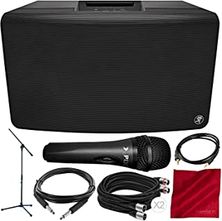 Mackie FreePlay LIVE Personal PA with Bluetooth and Xpix Handheld Microphone + Deluxe Accessory Bundle