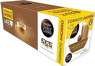 Nescafé Pack 3 x 16 capsules Dolce Gusto café avec lait d'intensité 7