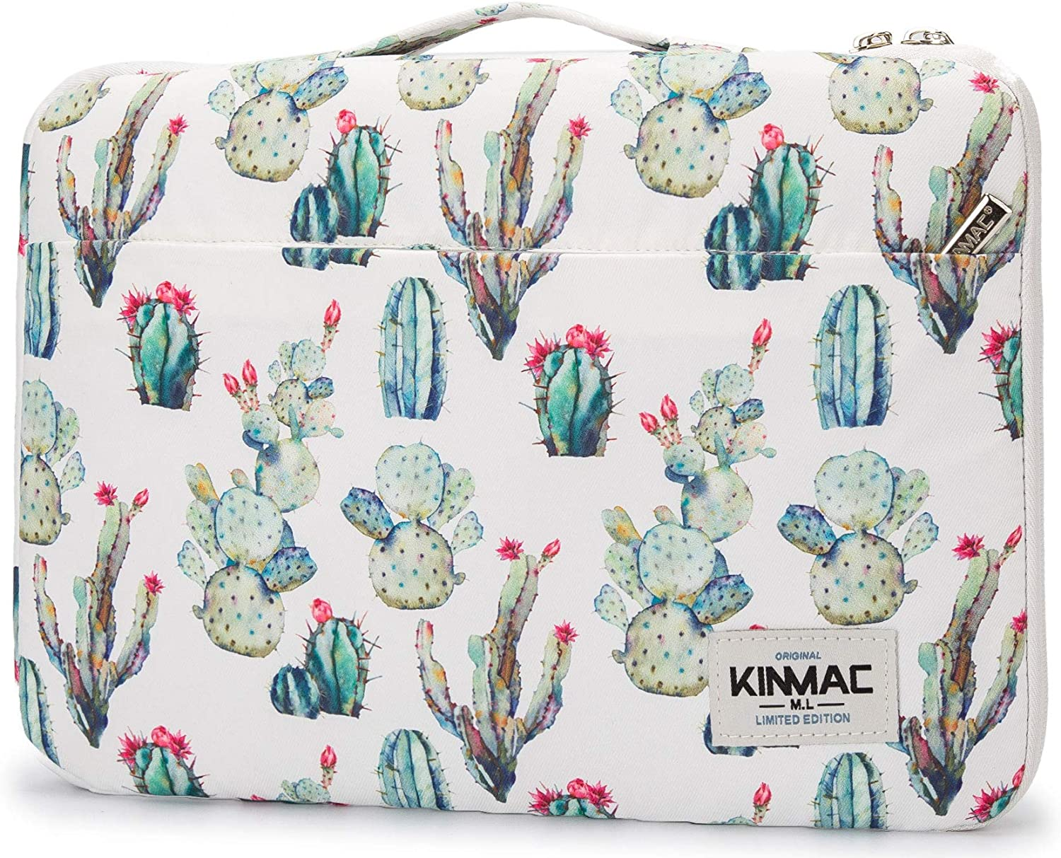 Kinmac Cactus 360° Cushion Protective Waterproof Laptop Case Bag Sleeve with Handle Compatible with 15 inch-15.6 inch Laptop