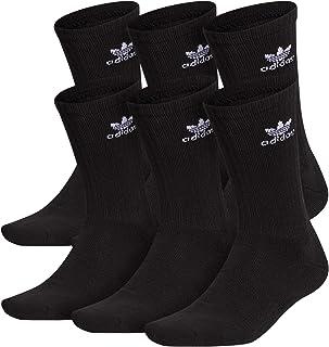 adidas Originals, Calcetines de trébol para hombre (6 pares), Hombre, Calcetines, CYN33, Negro / blanco, L