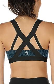 icyzone Femme Soutien-Gorge de Sport - Amovibles Paddé Élastique Brassière pour Yoga Gym