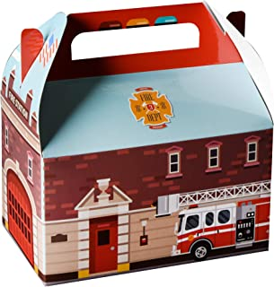 """Hammont Fire Treat Boxes 10 Pack - 6.25"""" x 3.75"""" x 3.5"""" Party favor Treat Container Cookie Paper Boxes Cute Designs Perfec..."""