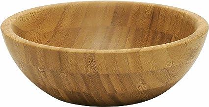 "Lipper International Bamboo Wood Salad Bowl, Small, 7"" Diameter x 2.25"" Height, Single Bowl"