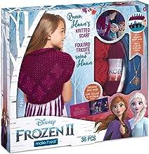Make It Real - Disney Frozen 2 Queen Iduna Bufanda Tejida Kit de Bricolaje para Manualidades y guías para niños a Crochet Queen Iduna Chal con Hilo acrílico y Adornos mágicos de Frozen 2