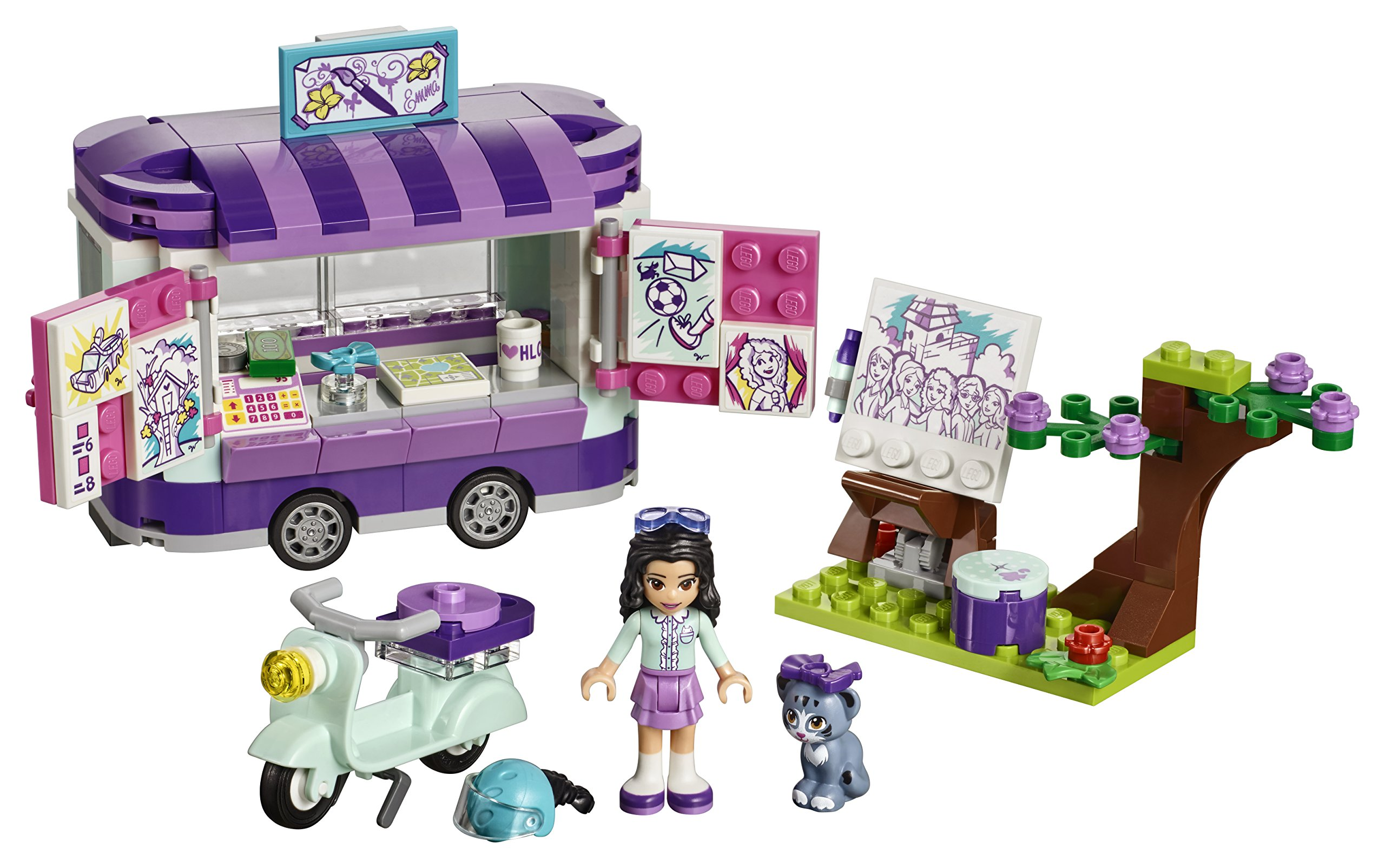 LEGO Friends 41332 - Puesto de arte de Emma: Amazon.es: Juguetes y ...
