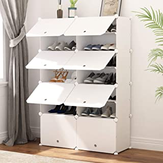 Best JOISCOPE Portable Shoe Storage Organzier Tower, Modular Cabinet Shelving for Space Saving, Shoe Rack shelves for shoes, boots, Slippers (2x7-tier) Review