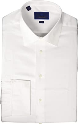 Trim Fit Dobby Weave French Cuff Formal Shirt