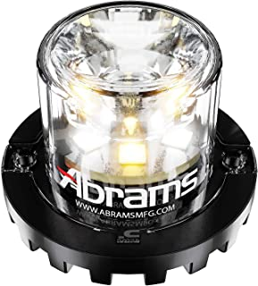 Abrams SAE Class-1 Blaster 360 (Amber/White) 18W - 6 LED Snow Plow Truck Vehicle LED Hideaway Surface Mount Strobe Warning Light