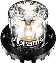 Abrams SAE Class-1 Blaster 360 (Amber/White) 18W - 6 LED Snow Plow Truck Vehicle LED Hideaway Surface Mount Strobe Warning Light