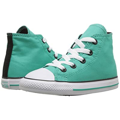 575ddf87 Converse Kids Chuck Taylor All Star Hi (Infant/Toddler) (Pure  Teal/Black/White) Girl's Shoes