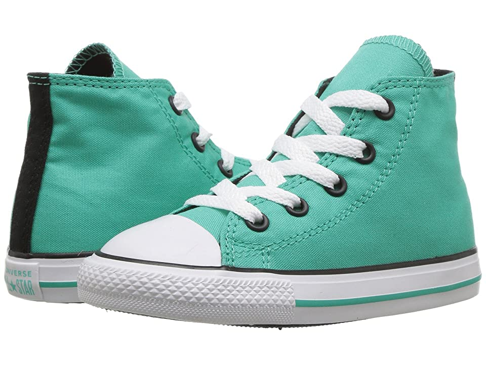d8b25108f1153f Converse Kids Chuck Taylor All Star Hi (Infant Toddler) (Pure  Teal Black White) Girl s Shoes