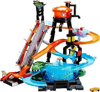 comprar comparacion Hot Wheels - Pista coches cocodrilo túnel de lavado - (Mattel FTB67)