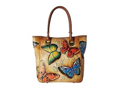 Anuschka Handbags Large Shopper 609 (Earth Song) Handbags