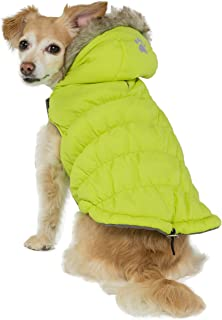 Friends Forever Sherpa and Quilted Winter Vest for Small to Medium Size Dogs Only, Coat Sweater Hoodie Outwear Apparel