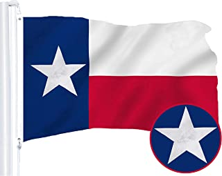 G128 – Texas State Flag   2x3 feet   Embroidered 210D – Indoor/Outdoor, Vibrant Colors, Brass Grommets, Quality Polyester