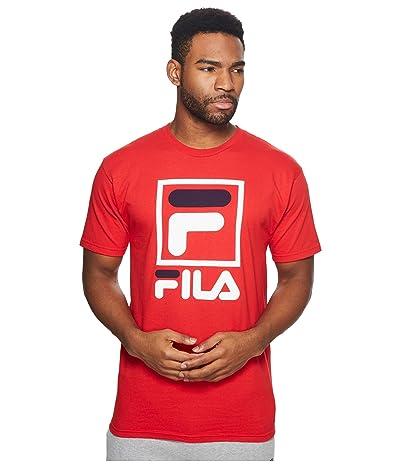 Fila Stacked T-Shirt (Red/White/Navy) Men