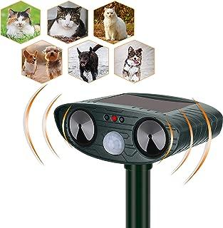 YARDPRO Ultrasonic Cat Repellent Outdoor – Solar Powered Animal Repeller – Non Toxic Dog Repellent, Cat Deterrent, and Deer Repellent Devices