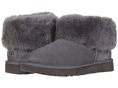 UGG Classic Mini Fluff (Charcoal) Women