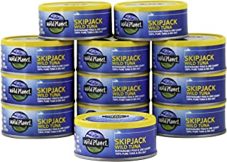 Wild Planet Skipjack Wild Tuna, Sea Salt, Keto and Paleo, 3rd Party Mercury Tested, 5..