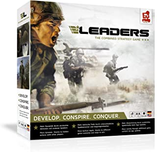 rudy games - Leaders 2019 - Interactive Cold War Strategy Board Game with App - for Children 10 Years and Up and Adults, 30x30x7 cm, Military Colors
