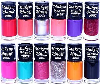 Makeup Mania Nail Polish Set of 12 Pcs, Nail Paint of 6ml each x 12 Pcs, MultiColor Combo Set No.86