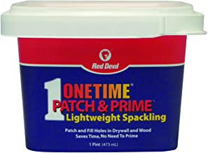 Red Devil 0540 ONETIME Patch & Prime Lightweight Spackling, 1 Pint, Pack of 1, White