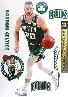 FATHEAD Gordon Hayward Graphic + Boston Celtics Logo Set Official NBA Vinyl Wall Graphics 17