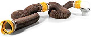 Camco 39634 Revolution 20' Sewer Hose Kit with 360 Degree Swivel Fittings and 4-in1 Elbow Adapter, Ready To Use Kit with H...