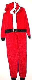 Faded Glory Women's Santa Claus Plush Fleece One Piece Union Suit Pajamas