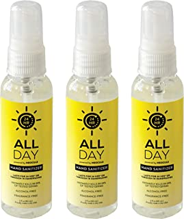 All Day 3-pack Hand Sanitizer Bundle - Travel Size - Moisturizes and Kills 99.99% of Germs - Sulfate, Aluminum, Triclosan and Paraben-Free