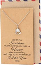 Quan Jewelry Ray of Optimism Sunshine Necklace, Sunny Day Cloud Surya Happiness Charm, New Beginnings I Love You Reminder, You're My Sunshine Positivity & Good Vibes - 100% Handmade