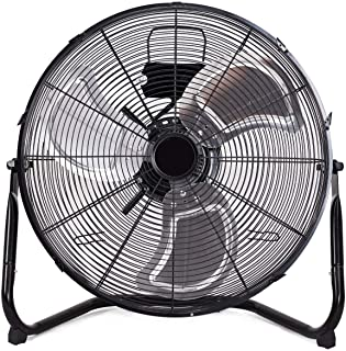 Toolsempire 20 Floor Fan High Velocity Heavy Duty Metal Quiet Fans for Industrial Garage Shop Outdoor Black (20