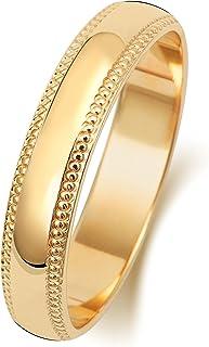 Anello Fede Nuziale Uomo/Donna 4mm in Oro giallo 9k (375) WJS188089KY