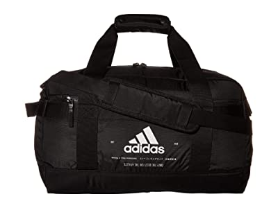 adidas Amplifier II Duffel (Black/White) Duffel Bags