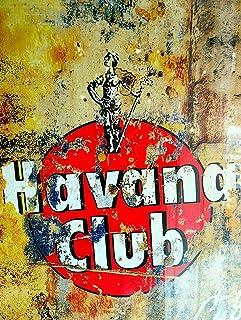 Forry Havana Club Metall Poster Retro Blechschilder Vintage Schild Zum Cafe Bar Garage Wohnzimmer Schlafzimmer Haus Restaurant Hotel