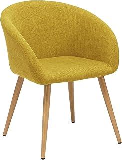 chaise de bureau scandinave jaune