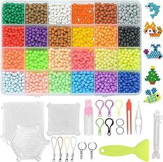 ZITFRI 3600pcs Recharge Perles Compatible avec Aquaa Pearl Beads DIY 24 Couleurs Perles d'Eau avec Accessoires pour Garçon...