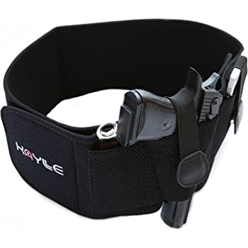 KAYLLE Belly Band Holster for Concealed Carry (Upgraded) - Most Comfortable Neoprene Inside Waistband Holster with Elastic Hand Gun Holder - for Men & Women - Fits Glock, Ruger, Sig Sauer, S&W M&P