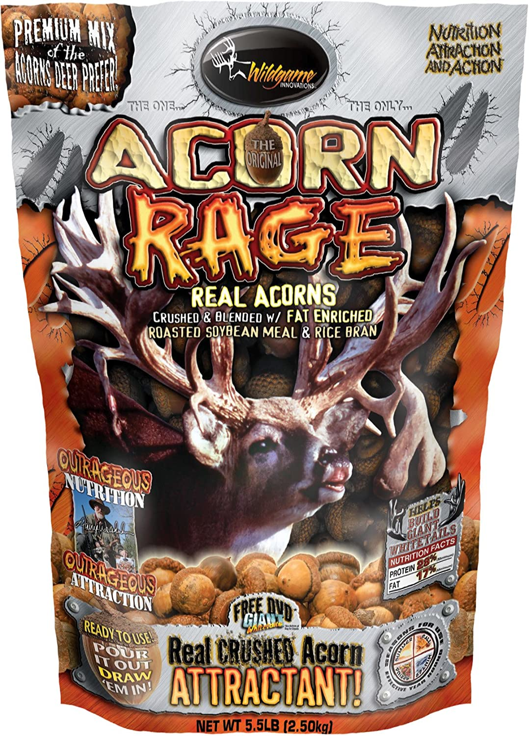 Wildgame Innovations Max 41% OFF Acorn New Shipping Free Shipping 5.5-Pounds Bag Rage