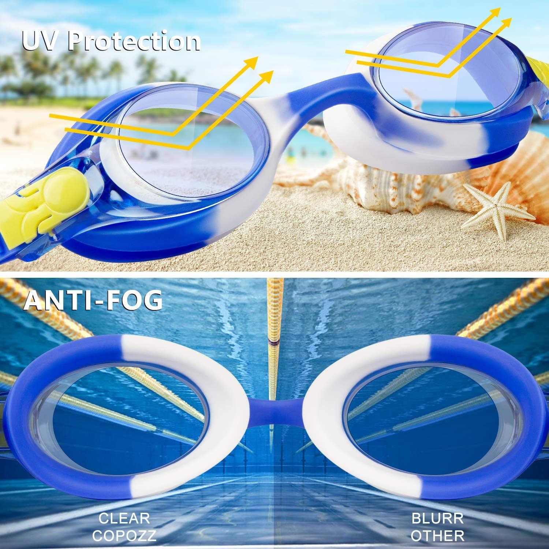 Kids Swimming Goggles No Leaking Anti Fog UV Protection rabofly Swim Goggles